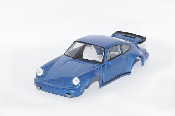 Porsche 911 Turbo Karosse inkl. Adapter / Farbe Metallic Blau