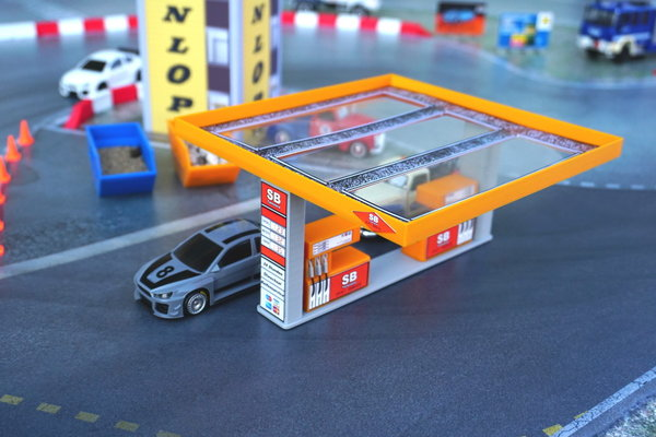 "Tankstelle ""SB-Tanke"" Orange 1:43"