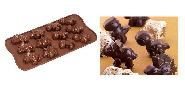 Silikomart Chocolate  Parlinen Form Mould Choco Dino